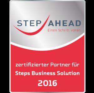 jucom ist zertifizierter Parnter für die Steps Business Solution 2016