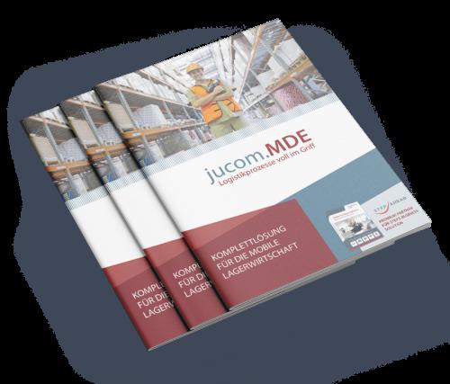 jucom.MDE Broschüre zur Software für mobile Datenerfassung für Unternehmen und Onlineshops